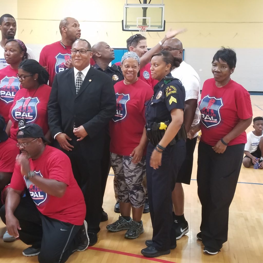 Councilman Felder providing support to Police Athletic League